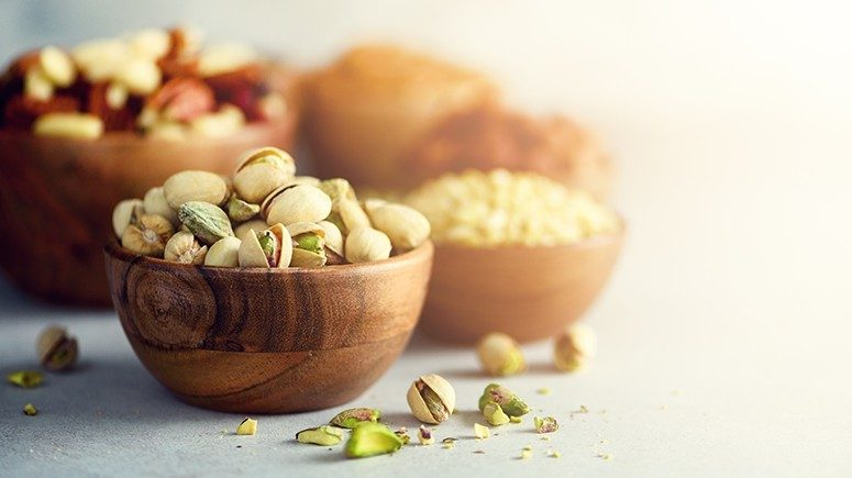 pistachio and almonds