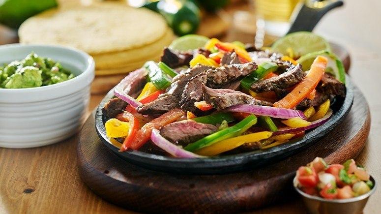 steak fajita on plate