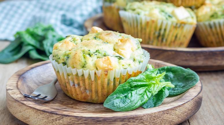 spinach feta muffin